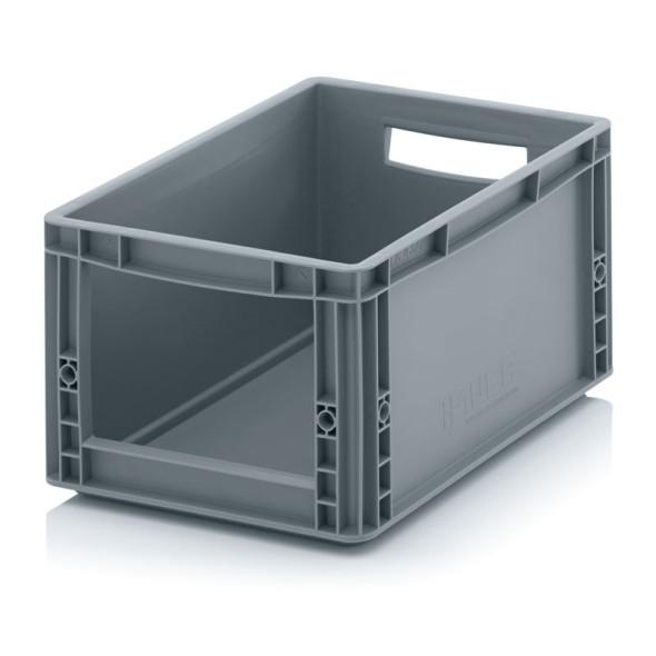Skladové přepravky s otvorem, 400 x 300 x 220 mm