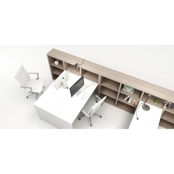Pracovní stůl SEGMENT, mělký krátký, dub přírodní