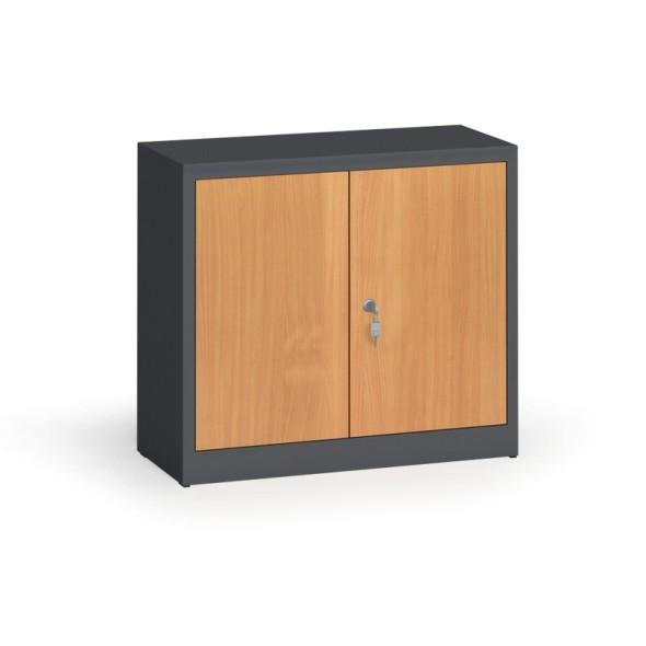 Svařované skříně s lamino dveřmi, 800 x 920 x 400 mm, RAL 7016/buk