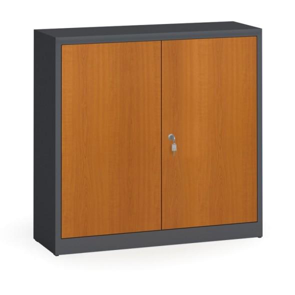Svařované skříně s lamino dveřmi, 1150 x 1200 x 400 mm, RAL 7016/třešeň