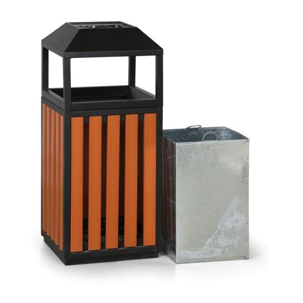 Venkovní odpadkový koš s popelníkem
