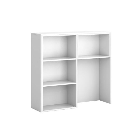 Skříňka ke stolu S03 SEGMENT, levá, bílá