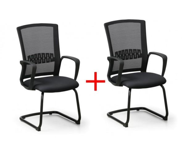 Konferenční židle Roy 1+1 Zdarma, černá