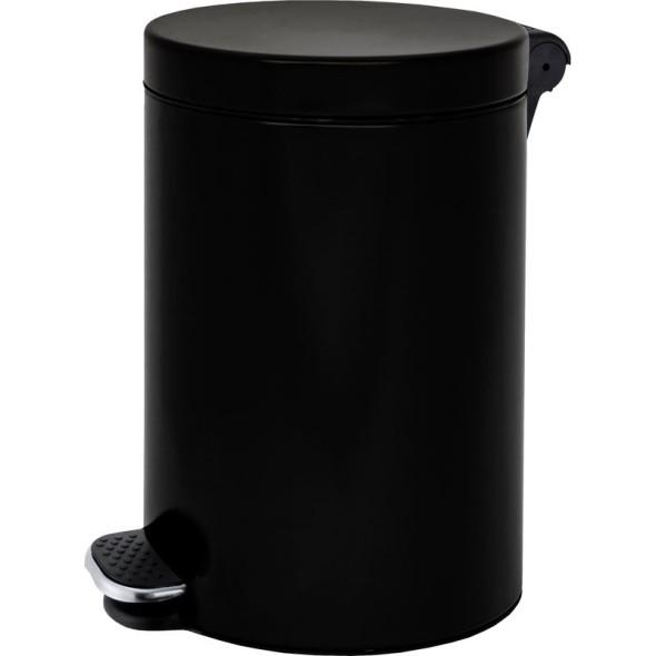 Nášlapný koš 12 L, lakovaný černý, plynulé zavírání