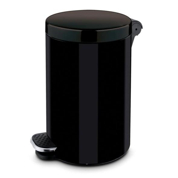 Nášlapný koš 5 L, lakovaný černý