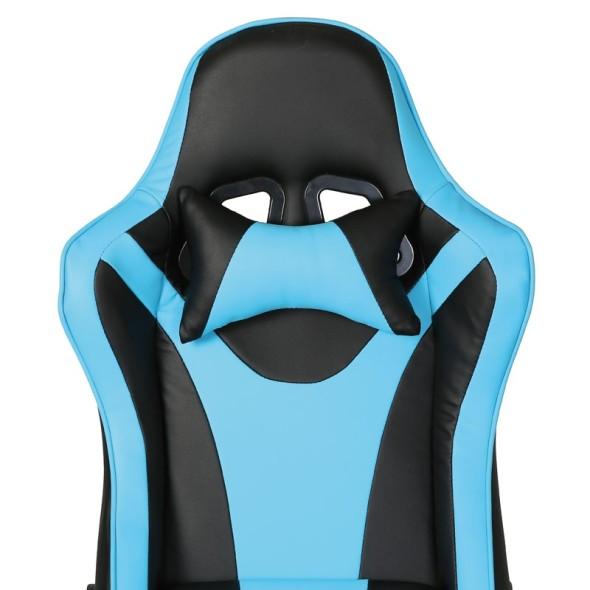 Kožené herní křeslo RACING, modrá
