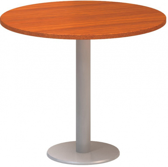 Kulatý konferenční stůl CLASSIC A, průměr 900 mm, deska třešeň