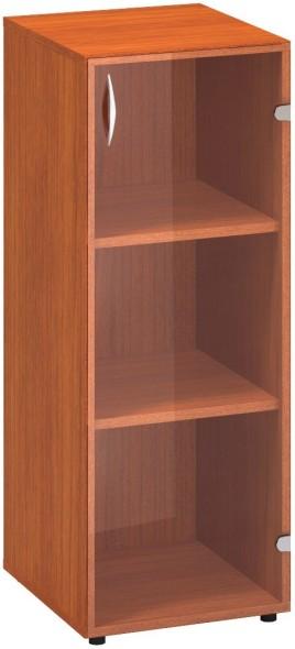Prosklená skříň s pravými dveřmi CLASSIC, 400 x 458 x 1063 mm, třešeň