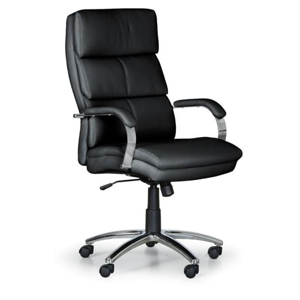 Kožené kancelářské křeslo STAIRS, černá