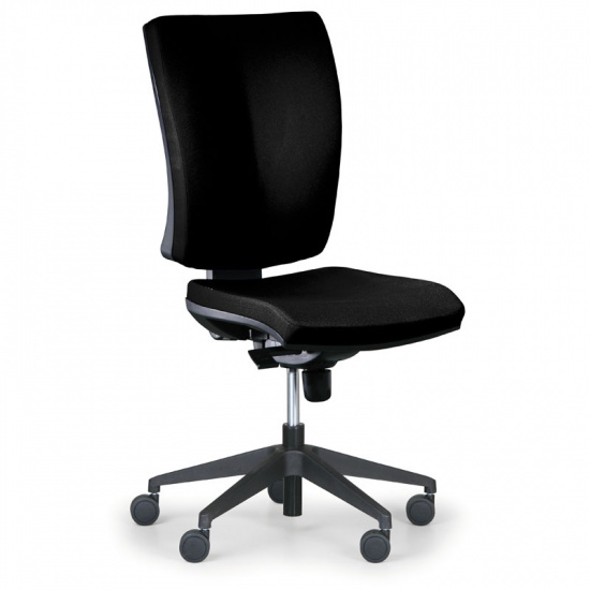 Kancelářská židle LEON PLUS, černá, bez područek
