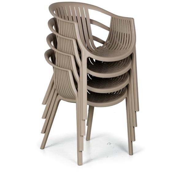 Plastová bistro židle LOUNGE, černá