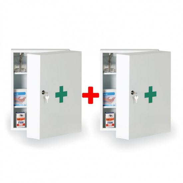 Lékárnička kovová 32 x 45 x 19 cm, 1+1 ZDARMA