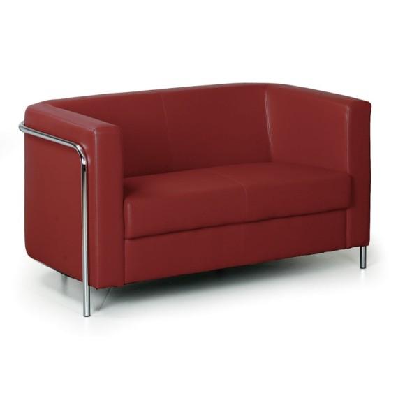 Kožená sedačka CLUB, 2 místa, červená