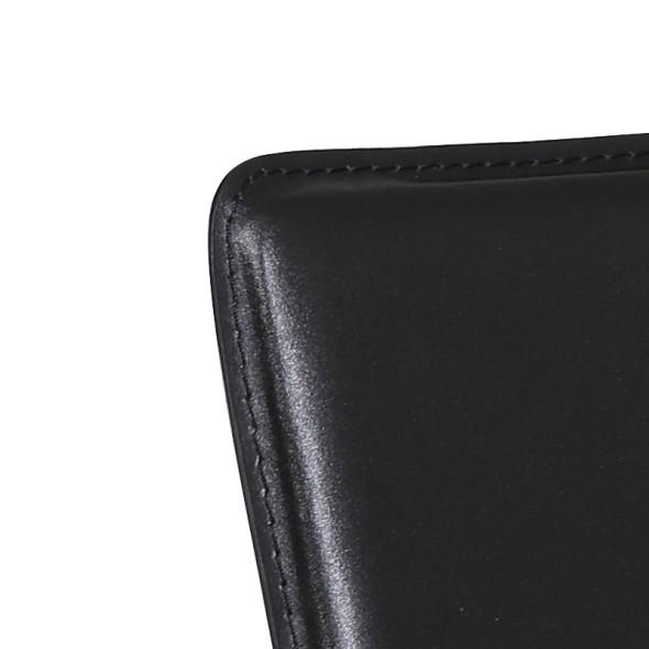 Kožená jídelní židle CAPRIO, černá, balení 4 ks