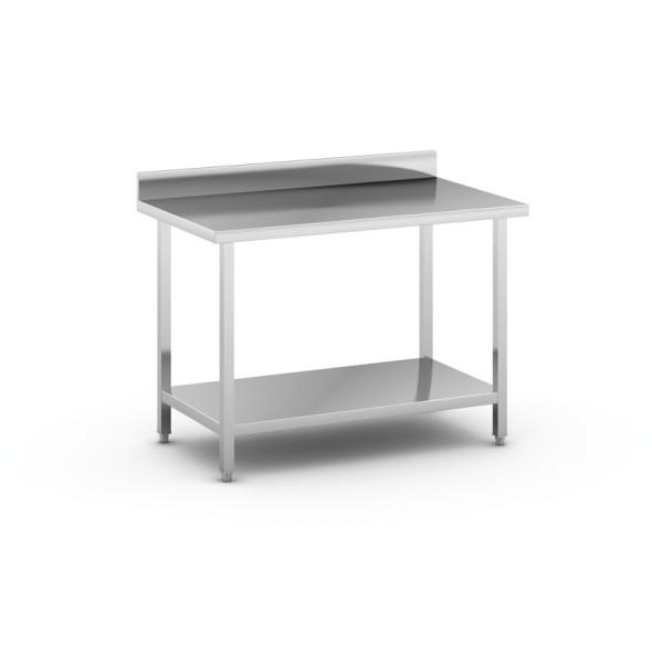 Nerezový pracovní stůl s policí, 1200x700x850 mm