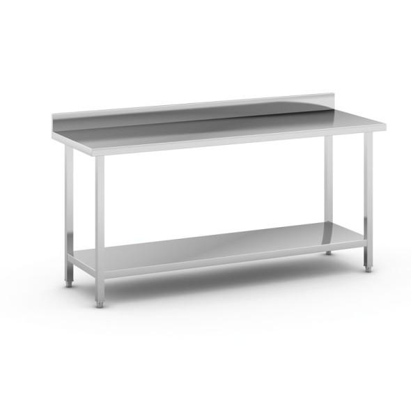 Nerezový pracovní stůl s policí, 1800x600x850 mm