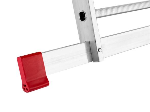 Hliníkový třídílný víceúčelový žebřík 3 x 11 příček