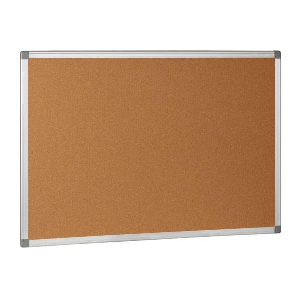 Korková nástěnka v hliníkovém rámu, 900x600 mm