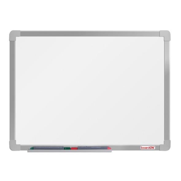 Bílá magnetická popisovací tabule boardOK, 60x45 cm, eloxovaný rám