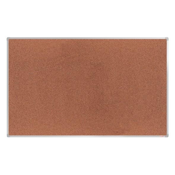 Korková nástěnka boardOK v hliníkovém rámu, 200x120 cm, eloxovaný rám