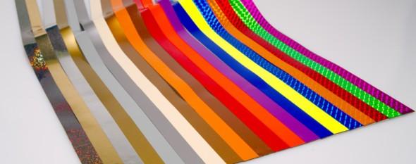 Magnetické pásky pro plánovací tabule, 600x15 mm, sada II, mix metalických barev, 20 ks