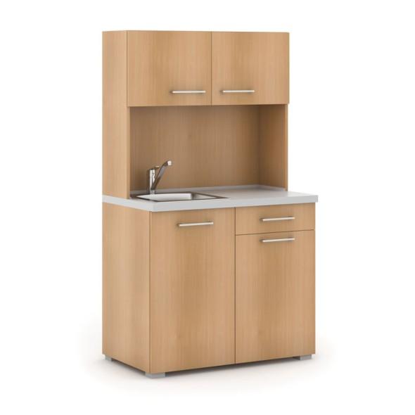 Kuchyňka PRIMO s dřezem a baterií, buk