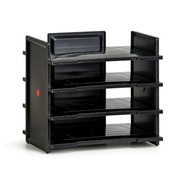 Plastový zásobník na dokumenty, černá