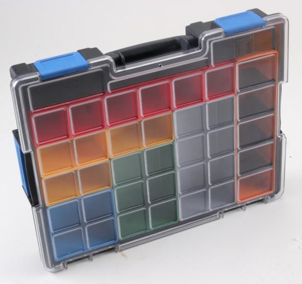 Profesionální kufry na drobné díly, 16 krabiček