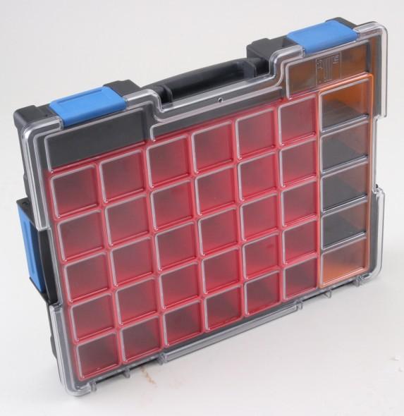 Profesionální kufry na drobné díly, 31 krabiček