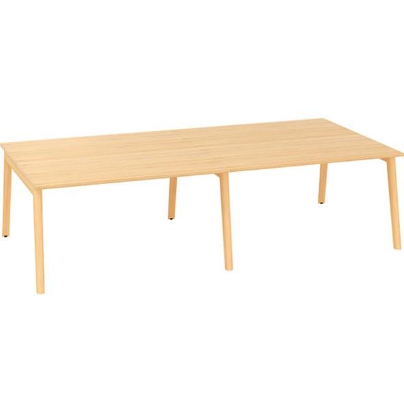 Kancelářský pracovní stůl, 2800 x 1600 mm, dub
