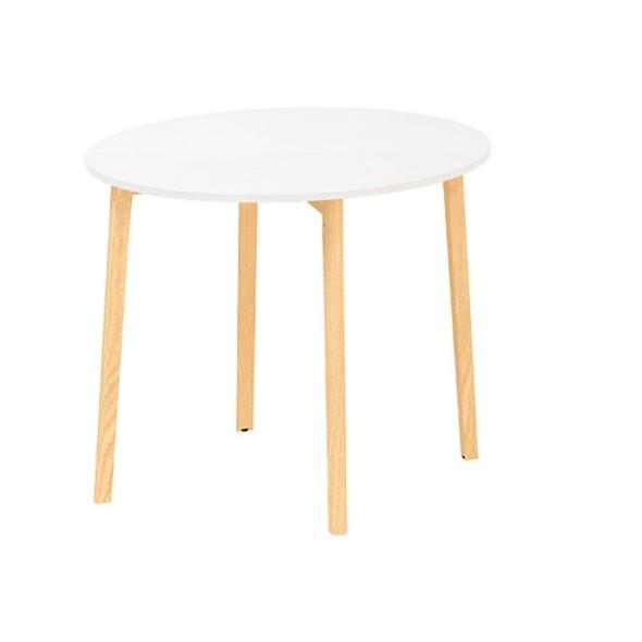 Konferenční stůl ROOT, průměr 900 x 742 mm, 4 nohy, bílá