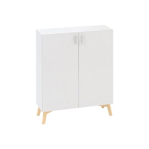Kancelářská skříň s dveřmi ROOT 1000 x 470 x 1215 mm, bílá