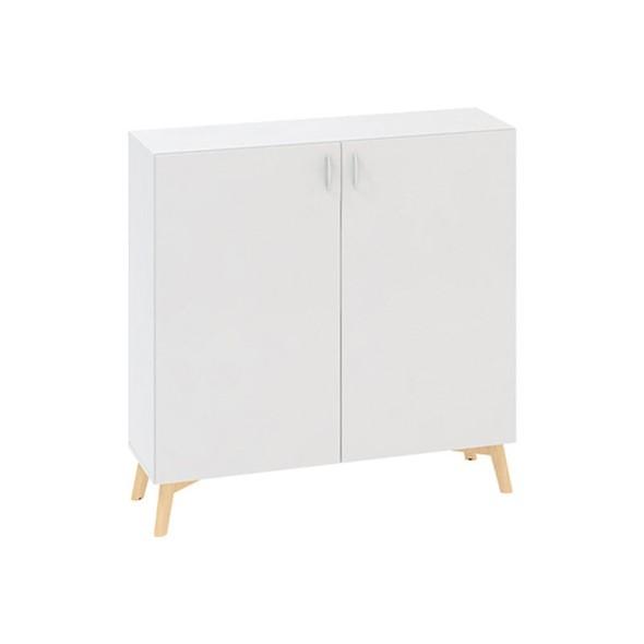 Kancelářská skříň s dveřmi ROOT 1200 x 470 x 1215 mm, bílá
