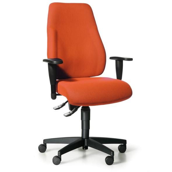 Kancelářská židle EXETER LADY s područkami, oranžová