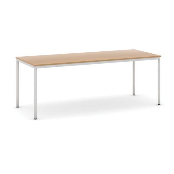 Stůl jídelní, 2000 x 800 mm deska buk, podnož sv. šedá