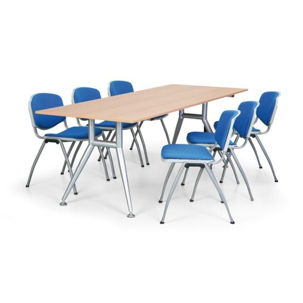 Jednací stůl WIDE, 2200 x 800 mm, šedý