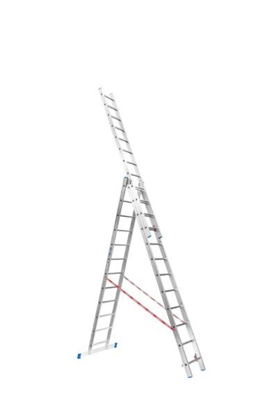 Trojdílný žebřík 3 x 12 (7,43 m)
