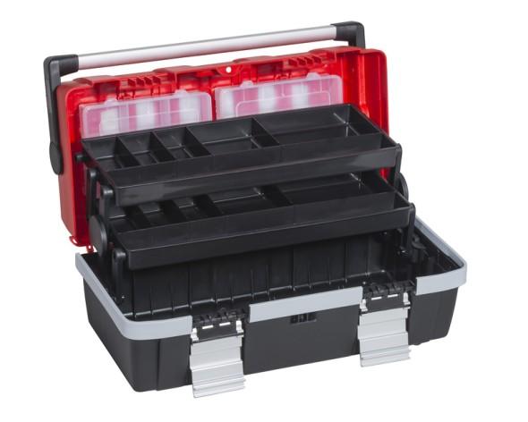 Kufr na nářadí s výsuvnými policemi McPlus Alu C 18
