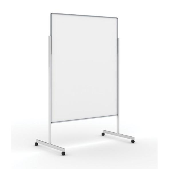 Informační a moderační tabule na kolečkách, 1200x1500 mm, lakovaná