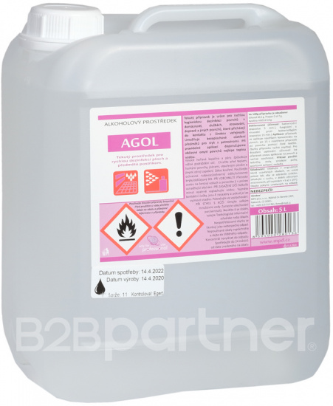 Alkoholový prostředek pro dezinfekci ploch a předmětů postřikem, 5 L