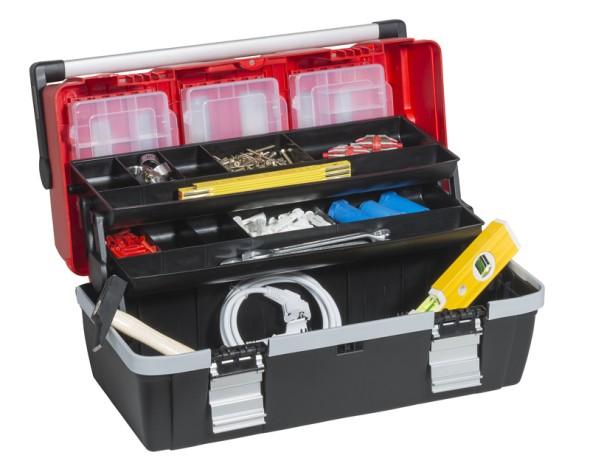 Kufr na nářadí s výsuvnými policemi McPlus Alu C 22