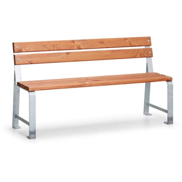 Parková lavička MEZZO s opěradlem, délka 1,5 m, 1+1 ZDARMA