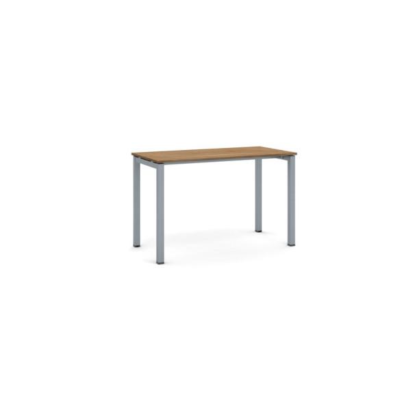 Stůl Square se šedostříbrnou podnoží 1200 x 600 x 750, ořech