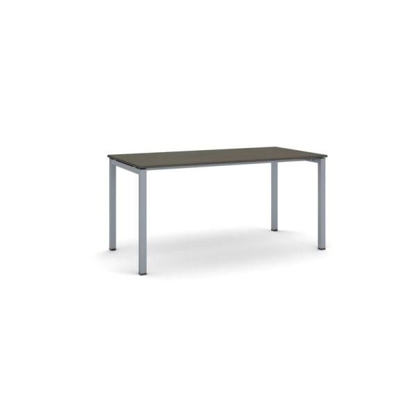 Stůl Square se šedostříbrnou podnoží 1600 x 800 x 750, ořech