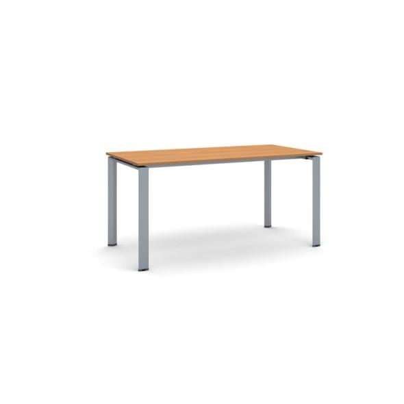 Jednací stůl INFINITY se šedostříbrnou podnoží 1600 x 800 x 750 mm, třešeň