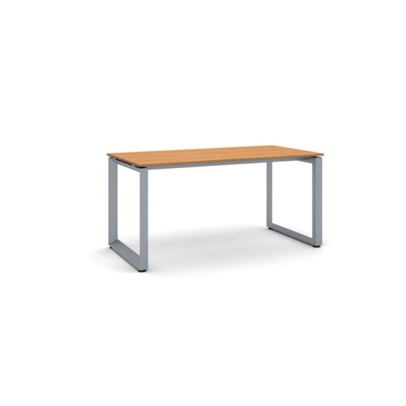 Jednací stůl INSPIRE se šedostříbrnou podnoží 1600 x 800 x 750 mm, třešeň