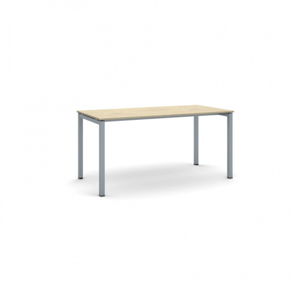 Stůl Square se šedostříbrnou podnoží 1600 x 800 x 750 mm, dub přírodní