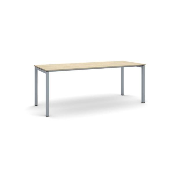 Stůl Square se šedostříbrnou podnoží 2000 x 800 x 750 mm, dub přírodní