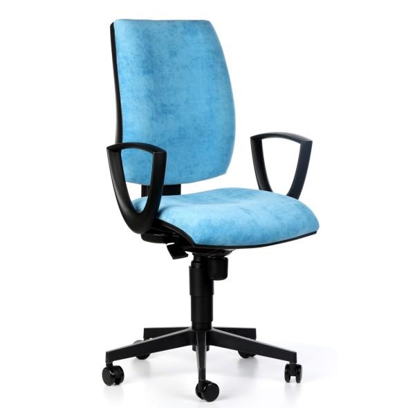 Kancelářská židle FIGO s područkami, synchronní mechanika, modrá