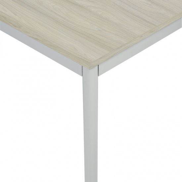 Stůl do jídelny, světlešedá konstrukce, 800 x 800 mm, dub